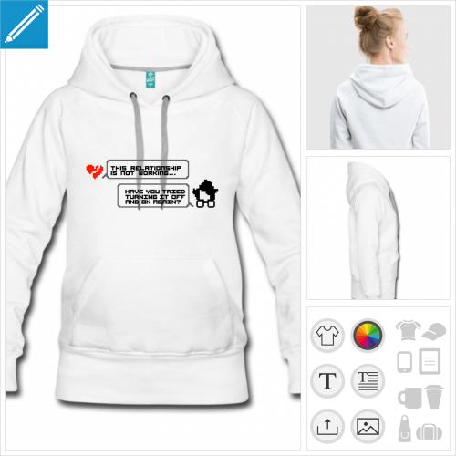 hoodie femme it crowd à créer soi-même