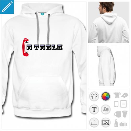 hoodie homme manger du code à créer soi-même