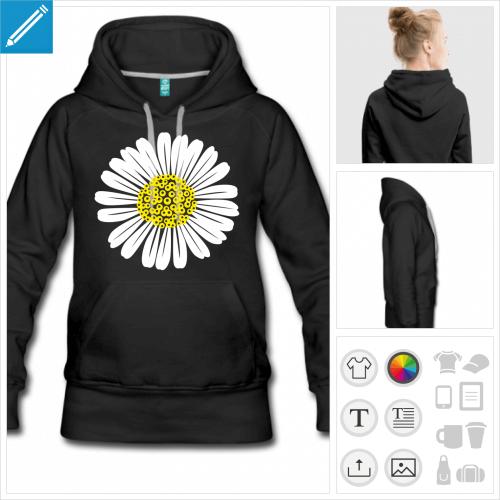 hoodie fleur à créer en ligne