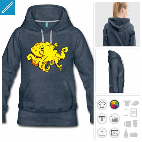 hoodie poulpe à créer en ligne