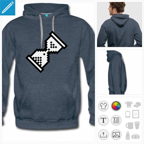 hoodie cursor wait personnalisable, impression à l'unité