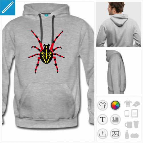 sweat à capuche grosse araignée à créer en ligne