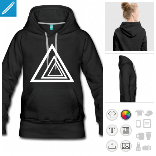 hoodie triangle personnalisable