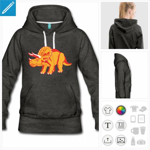 sweat-shirt dinosaure à imprimer en ligne