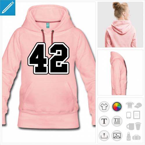 hoodie pour femme 42 à personnaliser en ligne