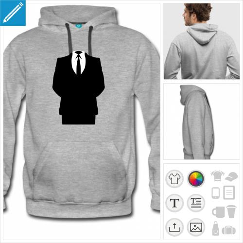 sweat-shirt homme logo anon à personnaliser et imprimer en ligne