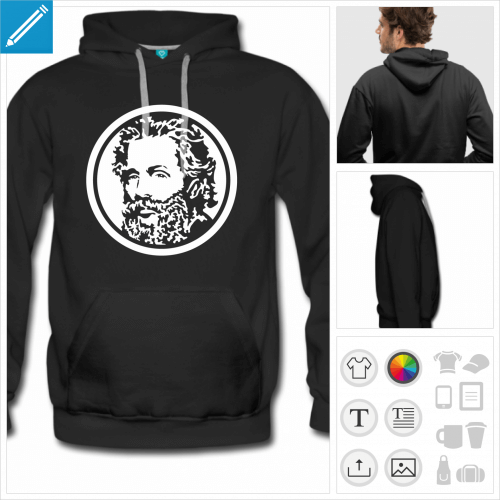 sweat homme Herman Melville personnalisable
