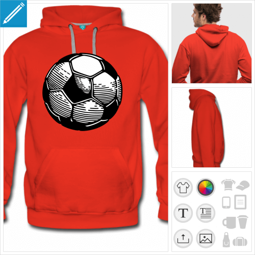 sweatshirt ballon de foot à personnaliser