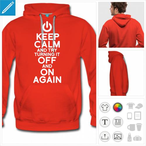 sweatshirt keep calm à personnaliser et imprimer en ligne