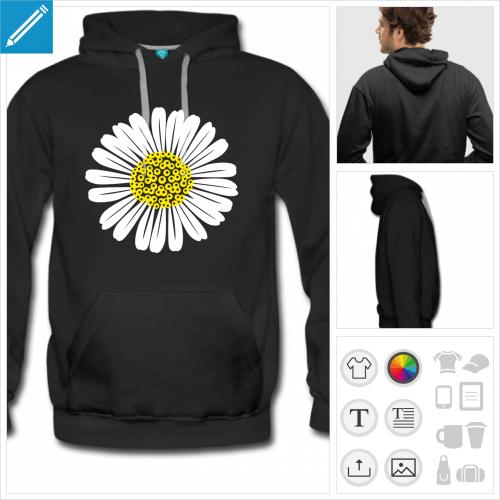hoodie fleurs à imprimer en ligne