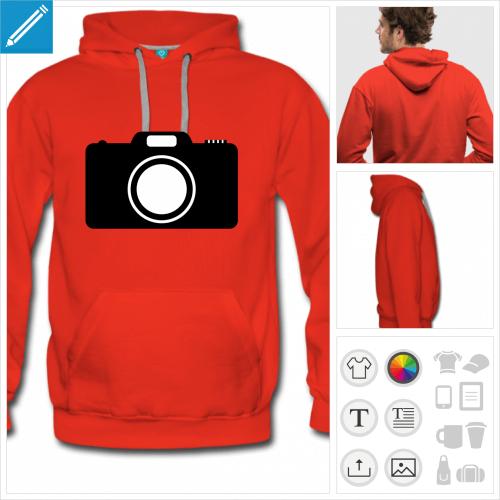 sweatshirt photo à personnaliser en ligne
