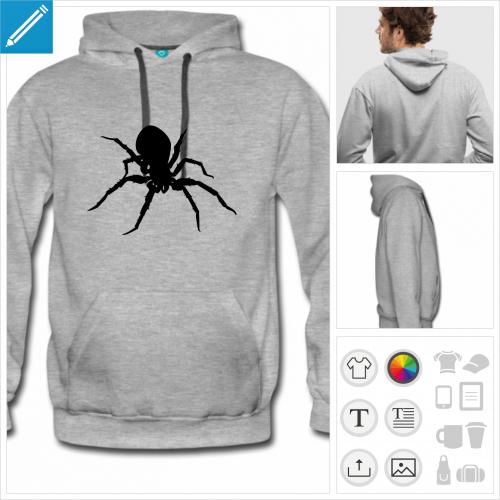 sweat-shirt homme araignée à imprimer en ligne