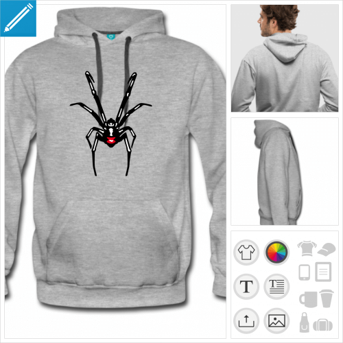 hoodie homme araignée à imprimer en ligne