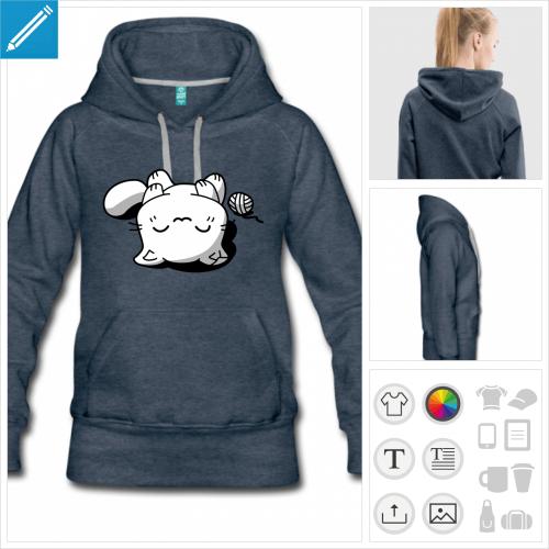 hoodie chat à imprimer en ligne