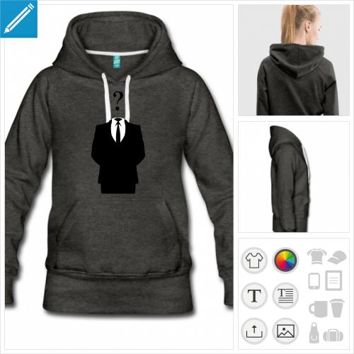 sweat-shirt logo anonymous à créer en ligne