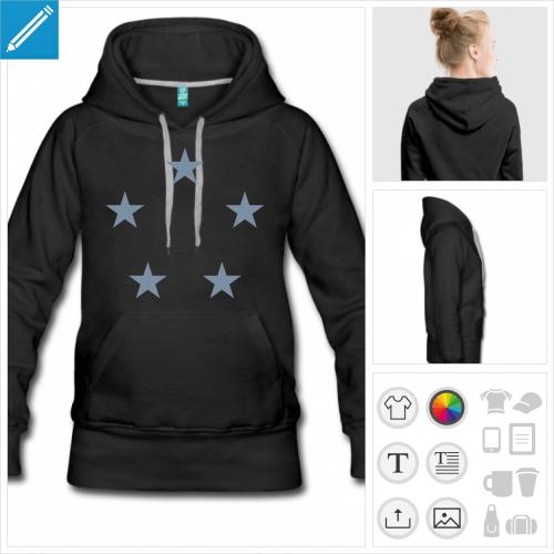 hoodie cercle étoiles à imprimer en ligne