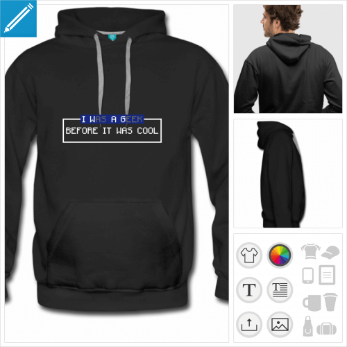 hoodie retrogaming à créer soi-même