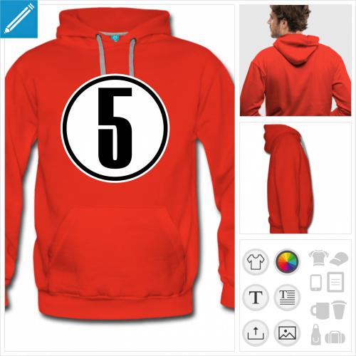 sweatshirt Numéro 5 à personnaliser et imprimer en ligne