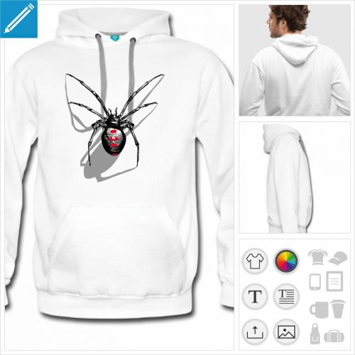 hoodie araignée à personnaliser