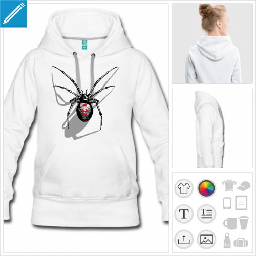 sweat à capuche spider à imprimer en ligne