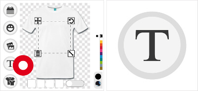 Personnalisez un t-shirt avec votre blague et votre texte.