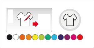 Personnaliser la couleur du t-shirt.