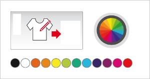 Personnalisez les couleurs du design à imprimer.