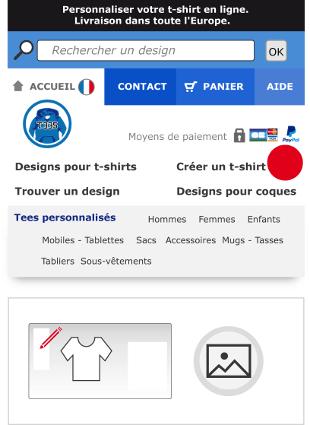 Sélectionnez votre design directement dans le designer Spreadshirt.