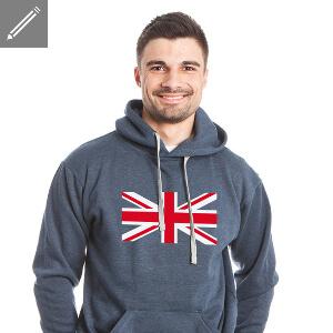 Hoodie homme drapeau anglais à imprimer en ligne.