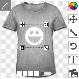 T-shirts personnalisés en ligne, impression