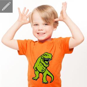 T-shirt dinosaure pour enfant à personnaliser.