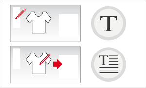 Ajouter votre texte (Menu gauche du designer)