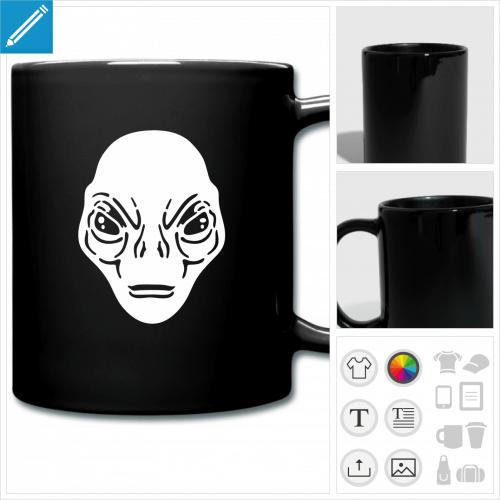 tasse couleur aliens à personnaliser, impression unique