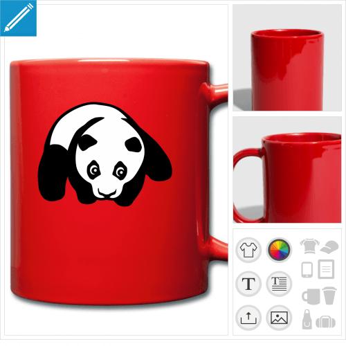 tasse panda kawaii à créer en ligne