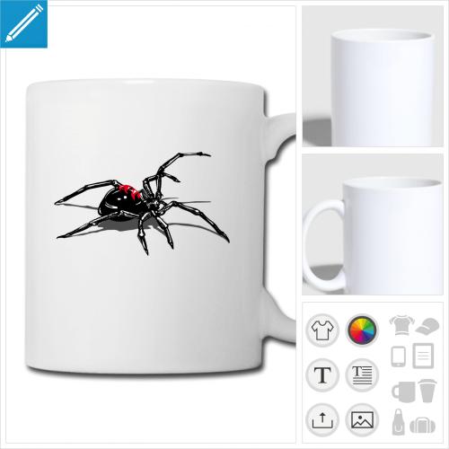 mug araignée à créer en ligne