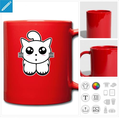 mug kawaii personnalisable