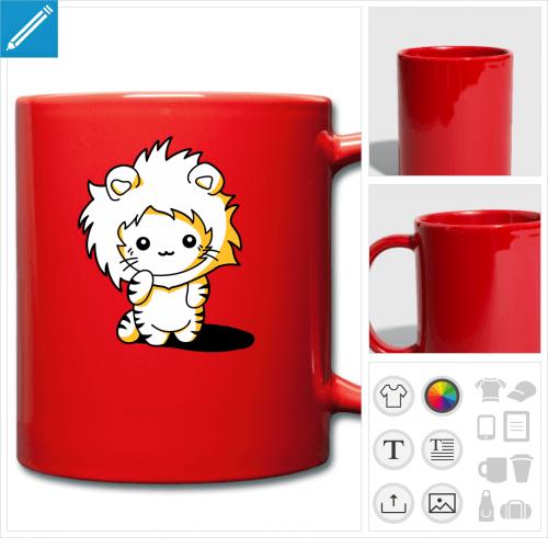 tasse couleur chat personnalisable