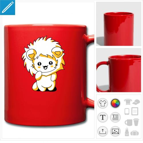 mug chaton à imprimer en ligne