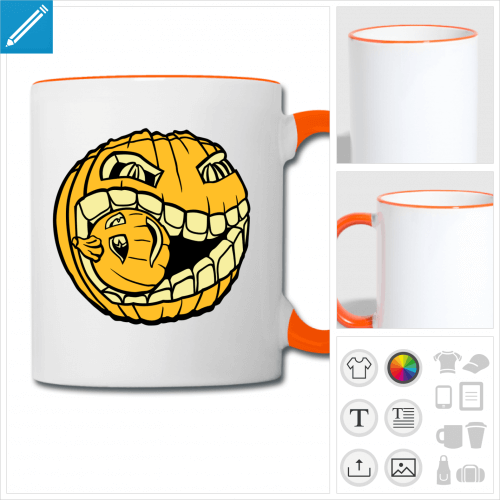 mug Halloween à créer soi-même