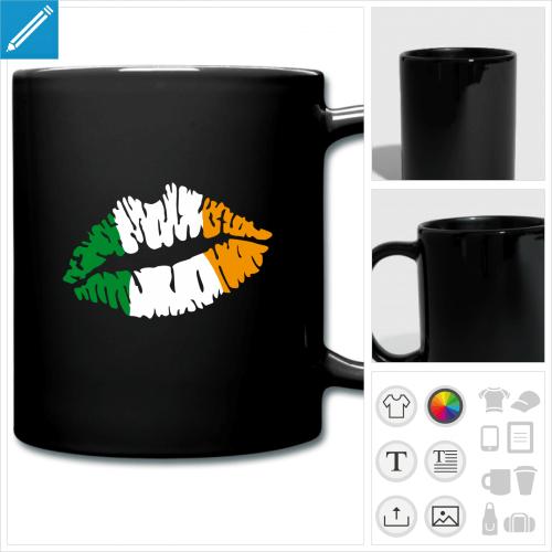 tasse couleur Saint Patrick personnalisable