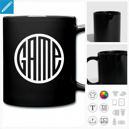 mug coloré gamer à créer soi-même