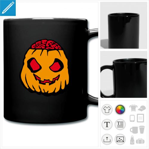 mug coloré halloween à personnaliser