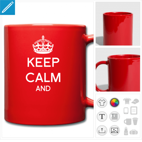 tasse keep calm à créer en ligne