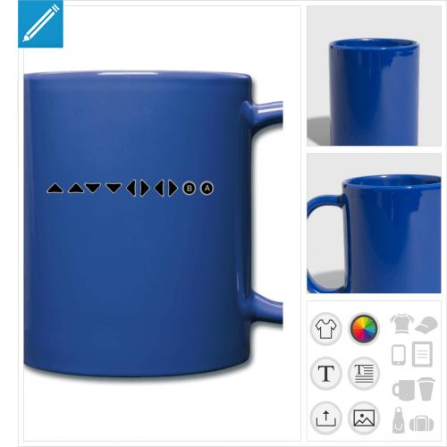mug coloré jeu vidéo à personnaliser
