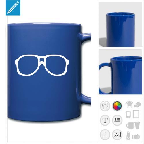 tasse couleur lunettes à personnaliser et imprimer en ligne
