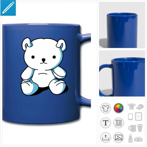 tasse couleur kawaii à créer soi-même