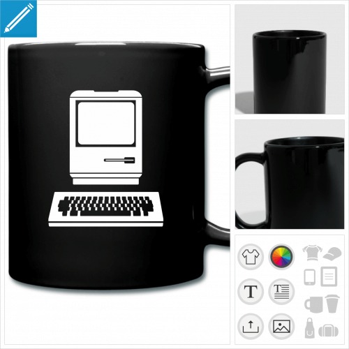 mug coloré ordinateur à personnaliser