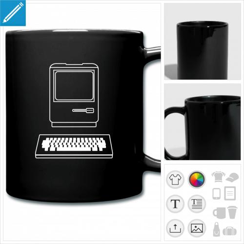 tasse couleur informatique à personnaliser en ligne