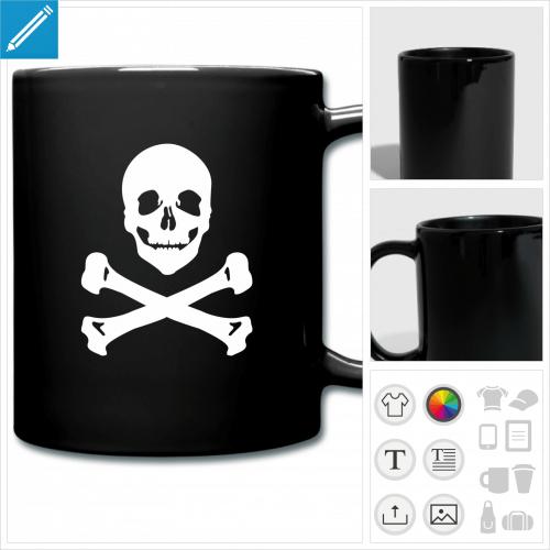 mug drapeau pirate à personnaliser