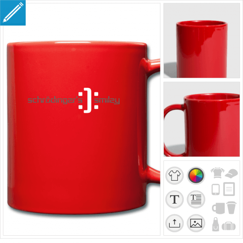 mug coloré science à personnaliser et imprimer en ligne